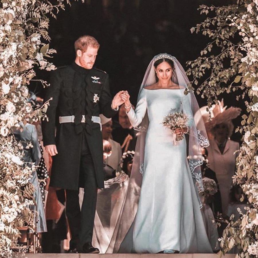 Quique Usales nos muestra todos los detalles del vestido de novia de Meghan Markle