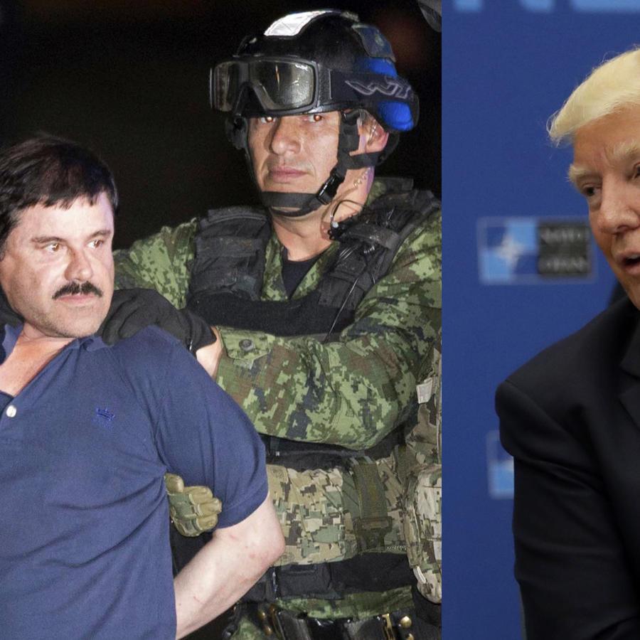 El Chapo (izquierda) y Trump, en sendas fotos de archivo.