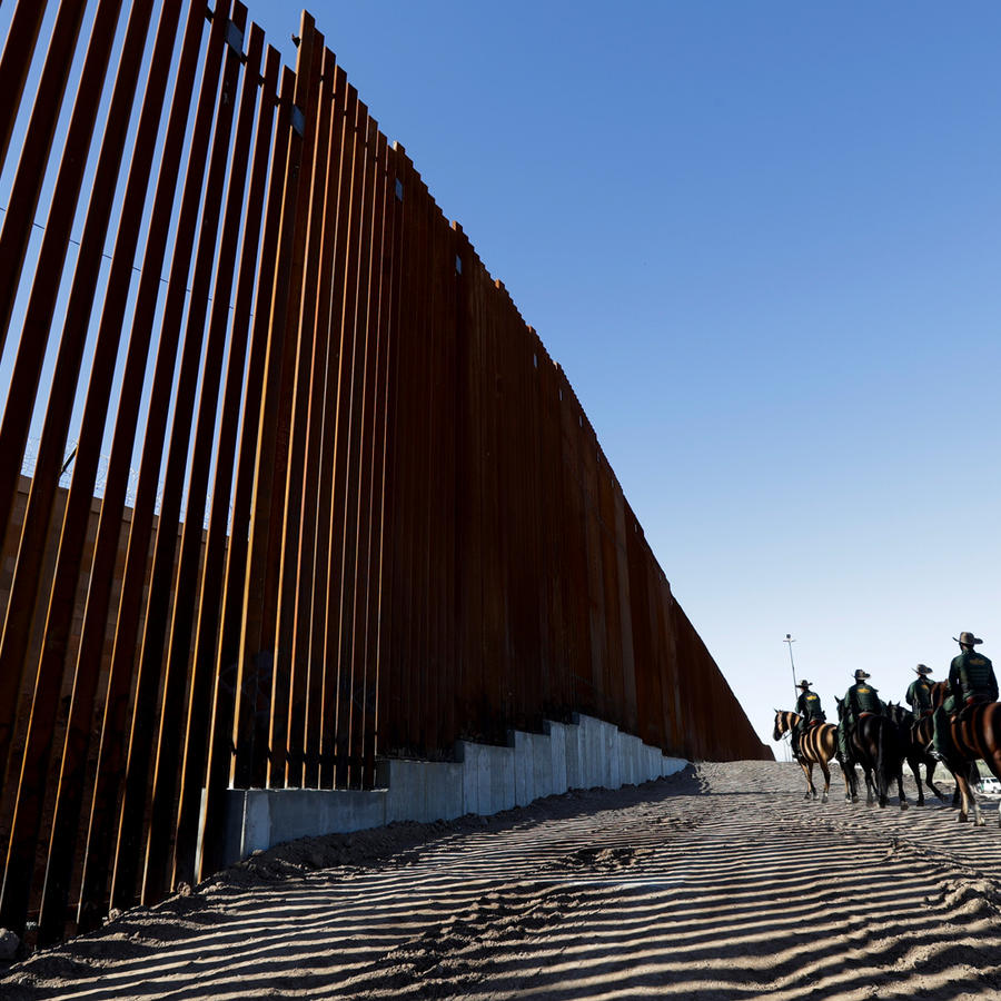 Frontera entre México y EEUU en Calexico, California