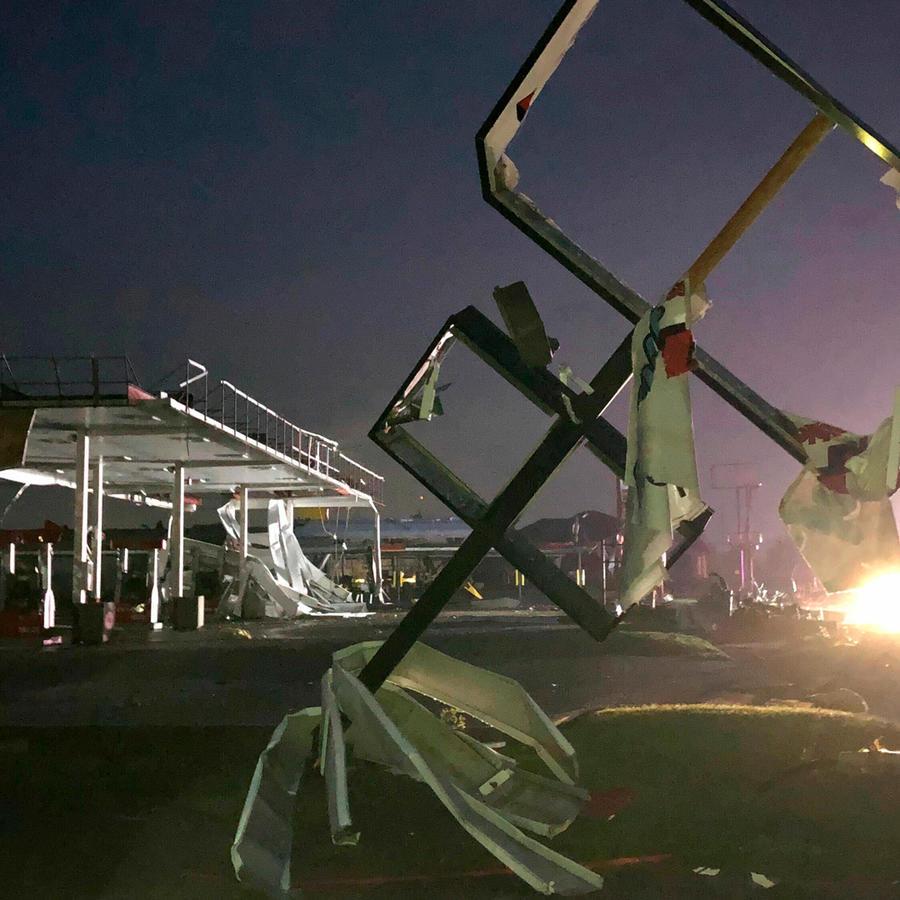 Daños provocados por los tornados en Misuri anoche