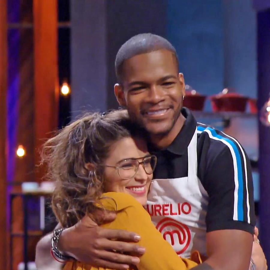 Lauren y Aurelio ganaron el reto de relevos en pareja de MasterChef Latino 2