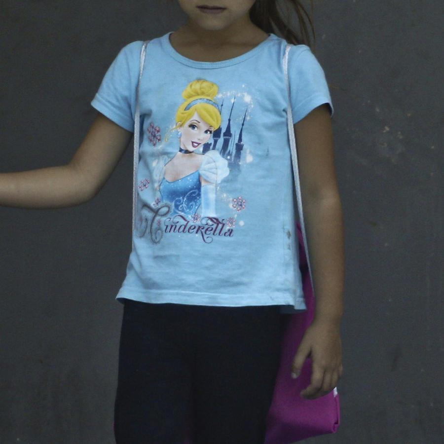 Imagen de archivo de una menor Hondureña deportada.