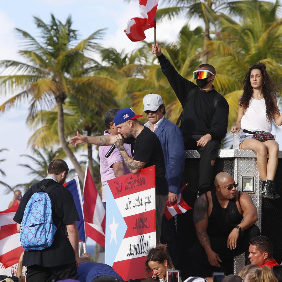 Protestas en Puerto Rico en contra de Ricardo Rosselló