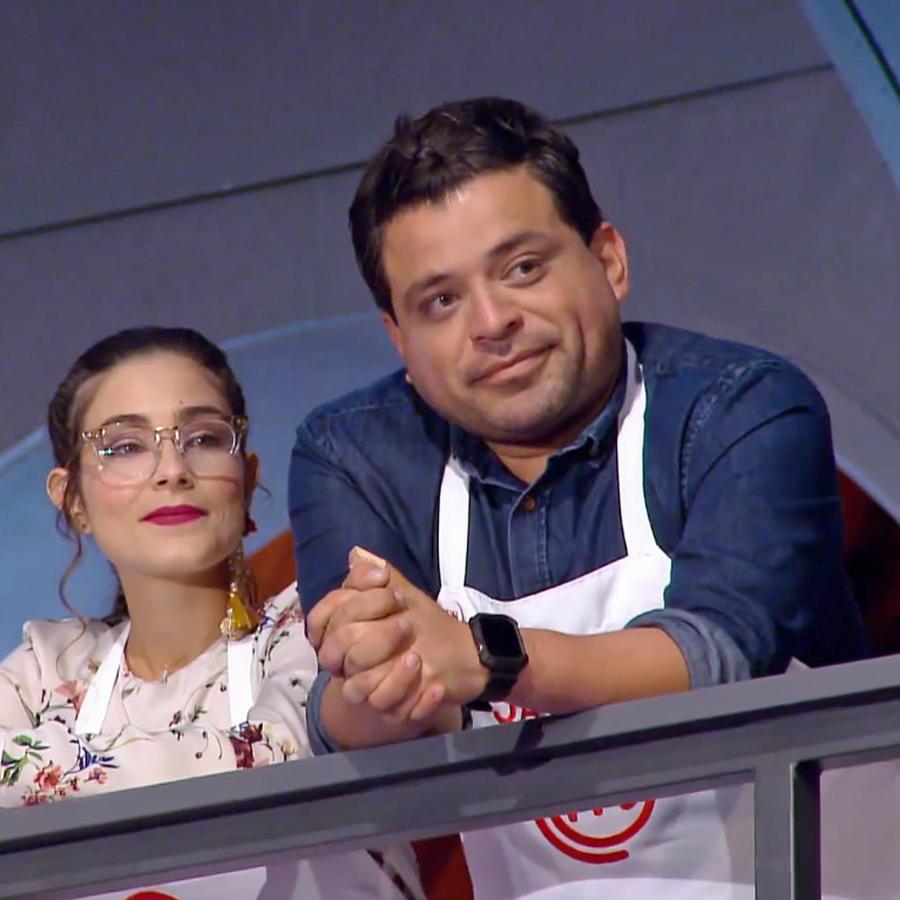 Lauren Arboleda y Javier Seañez en MasterChef Latino 2