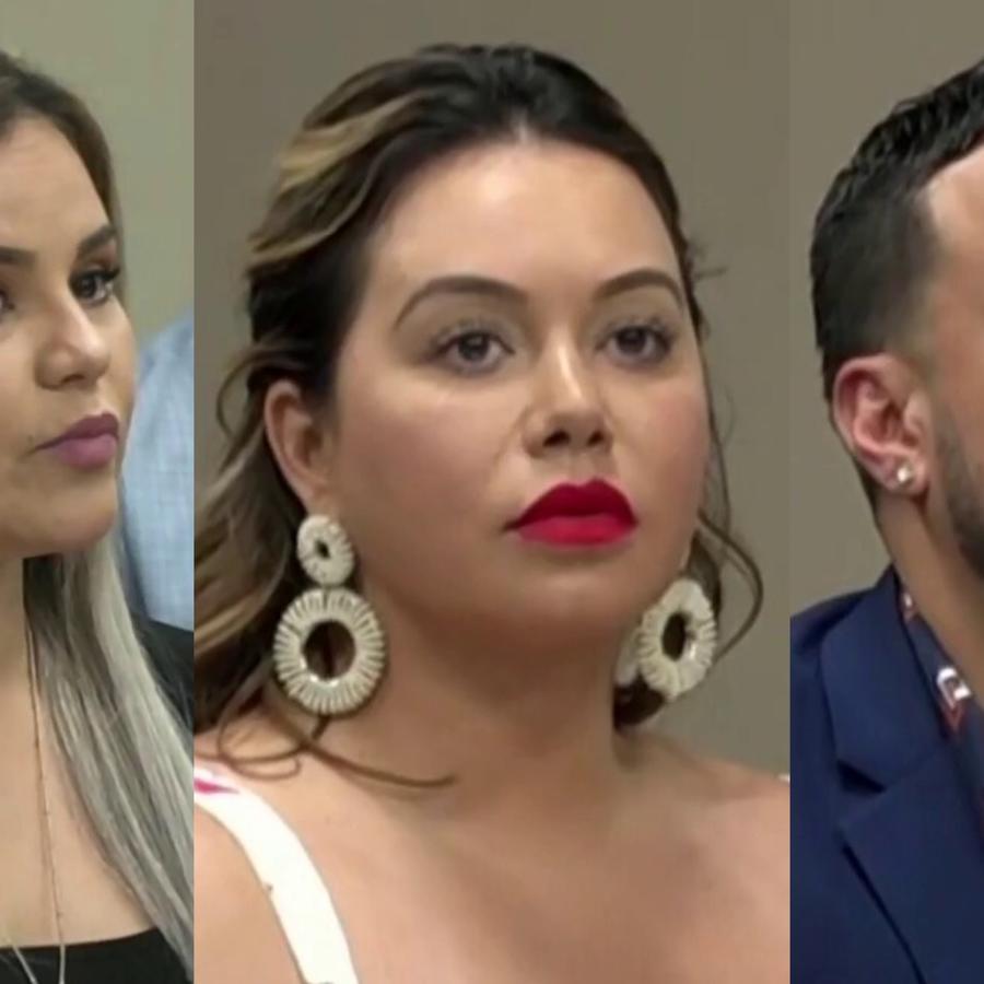 Chiquis Rivera, Lorenzo Méndez y Claudia Galván en la corte de El Paso, Texas