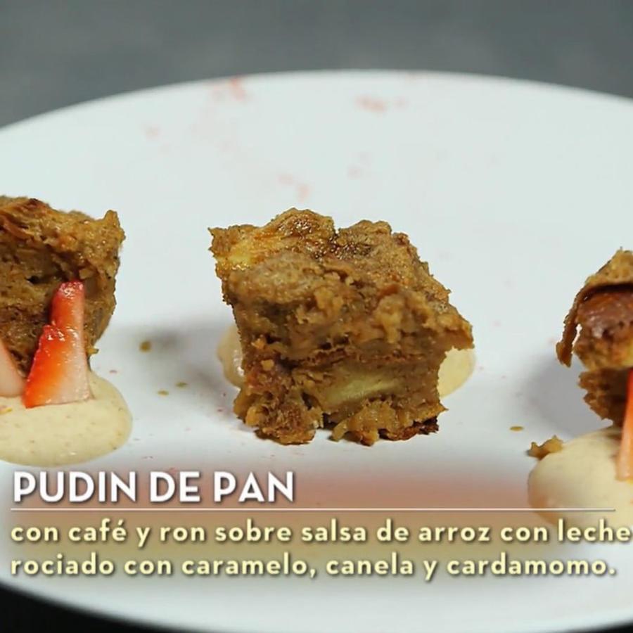 El postre de Lauren Arboleda en la gran final de MasterChef Latino 2 fue pudín de pan