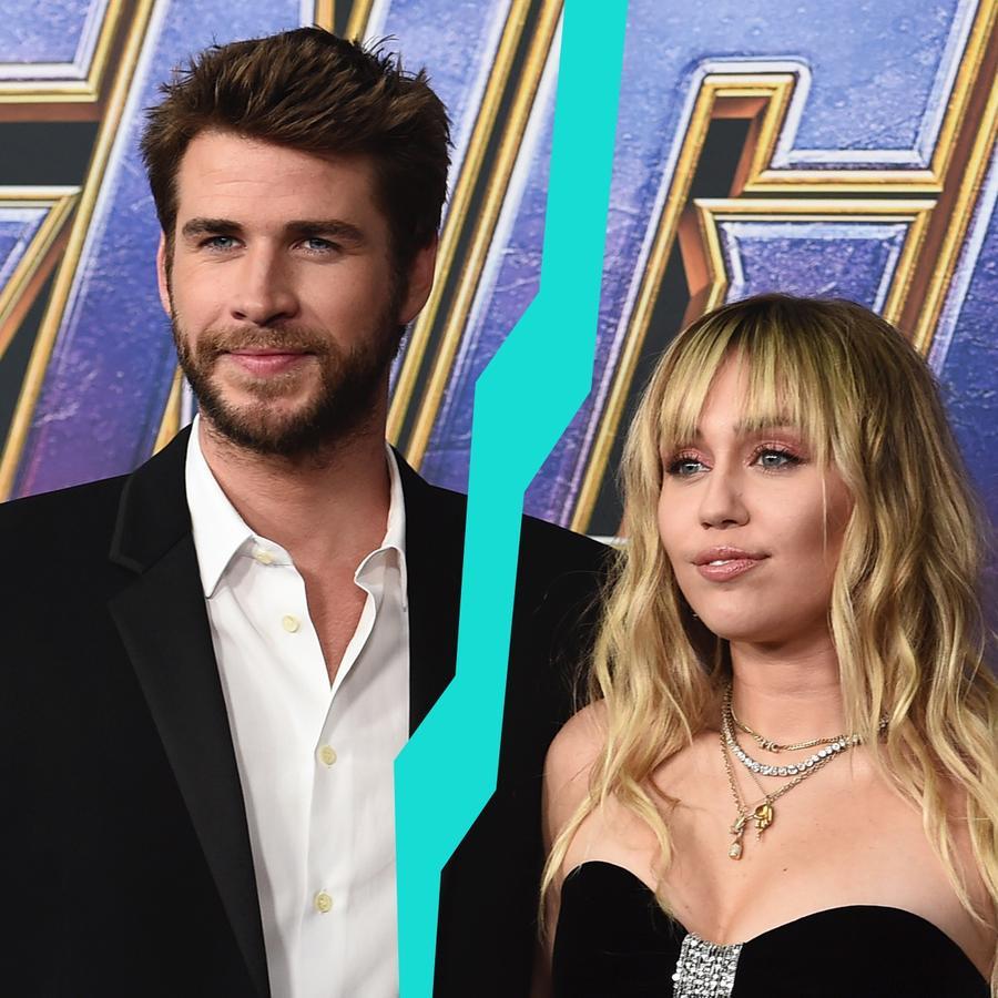 "Liam Hemsworth y Miley Cyrus en la premiere de ""Avengers: Endgame"""