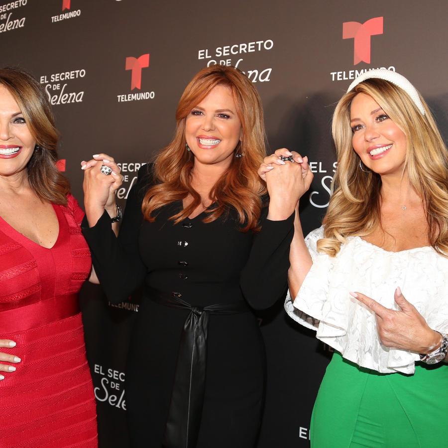 María Celeste junto a Myrka Dellanos y María Elena Salinas