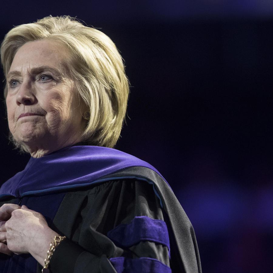 La exsecretaria de Estado, Hillary Clinton, durante una charla en Nueva York.