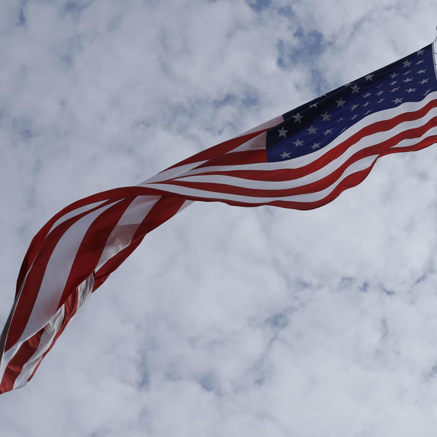 La bandera de Estados Unidos.