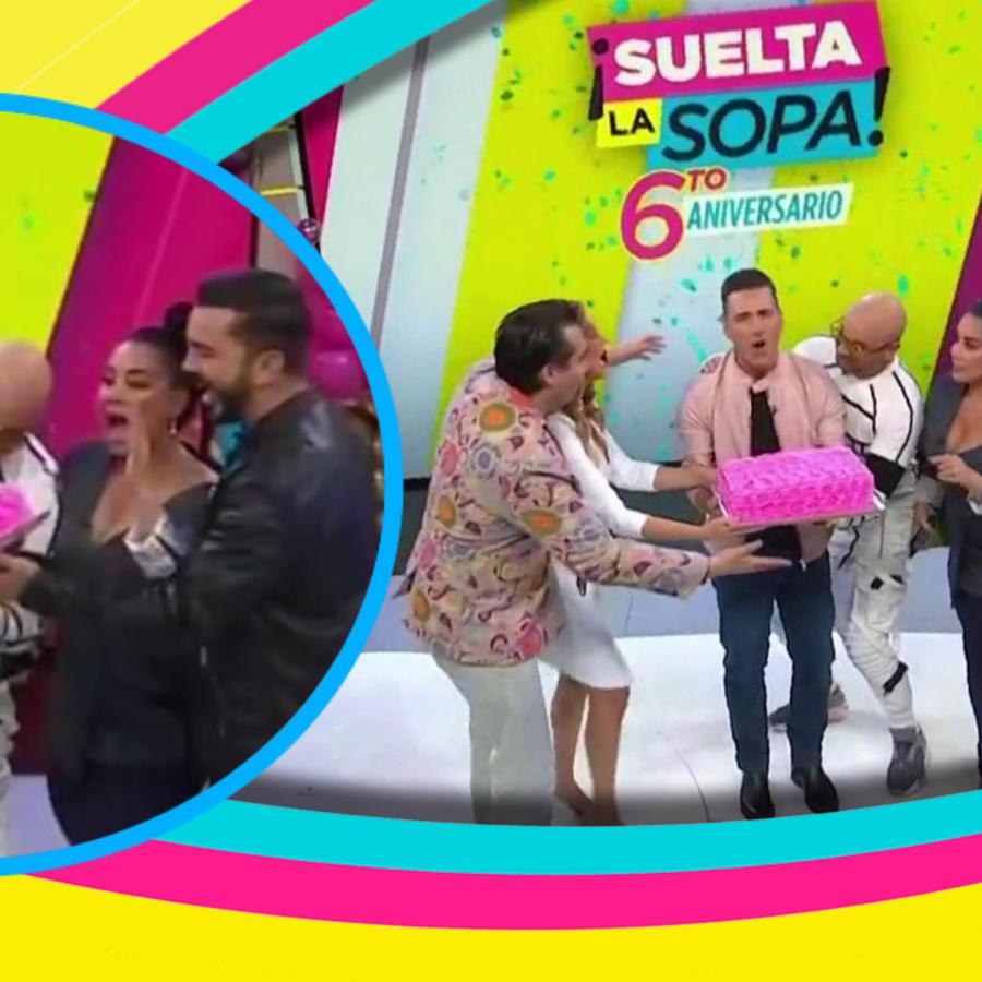 Presentadores de Suelta La Sopa junto a Wisin