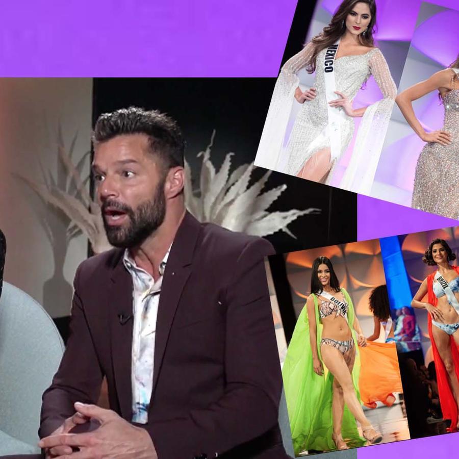 Ricky Martin y Eva Longoria comentan sus favoritas en Miss Universo 2019