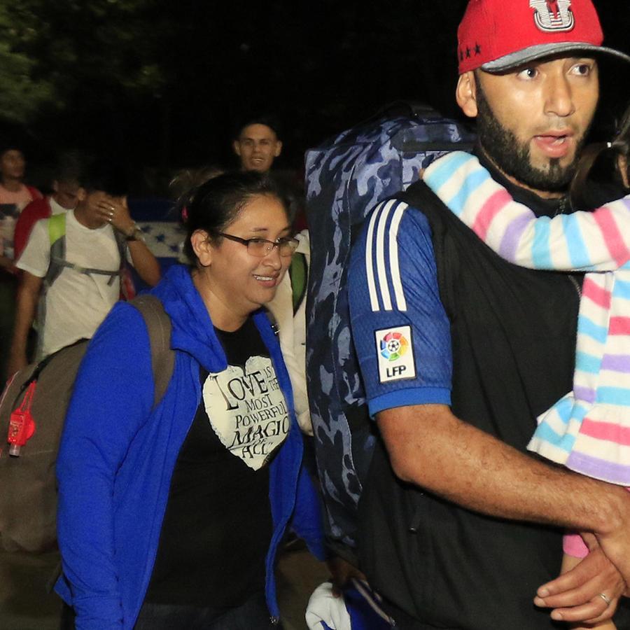 Caravana de migrantes desde Honduras a Estados Unidos.