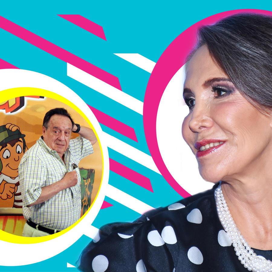 Chespirito y Florinda Meza