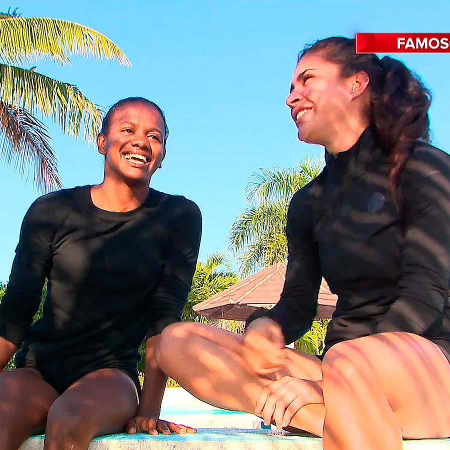 Yamilet y Nona felices en la Fortaleza