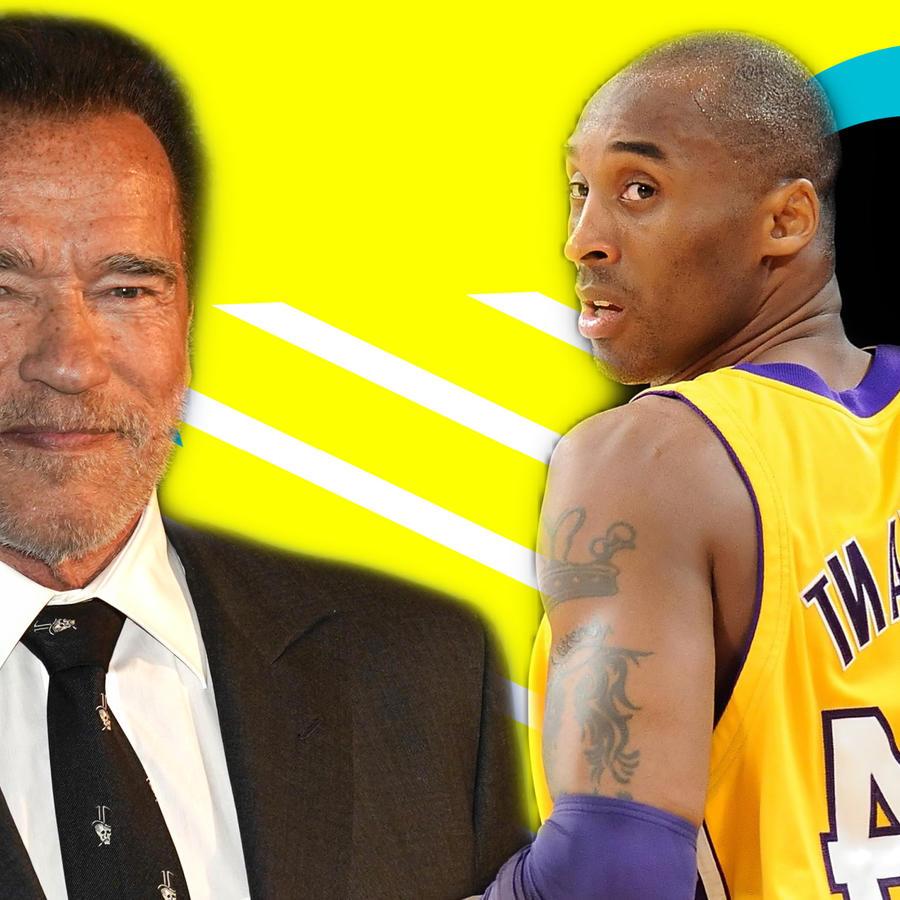 Arnold Schwarzenegger y Kobe Bryant