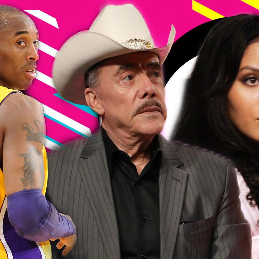 Kobe Bryant, Don Pedro Rivera y Vanessa Bryant