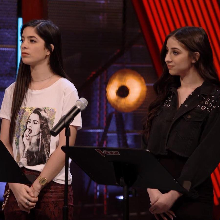 Karen Galera y Diana Sofia Chiriboga en los ensayos previos a las batallas de La Voz US 2