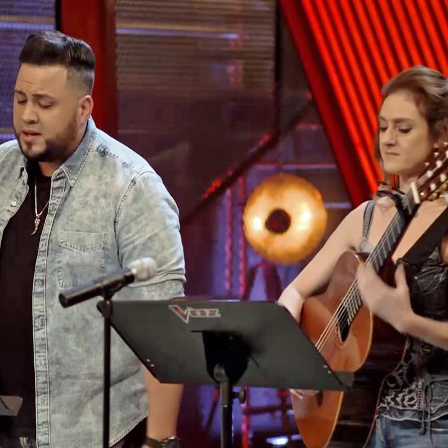 Marija Temo y Sammy Colon en los ensayos previos a las batallas de La Voz US 2