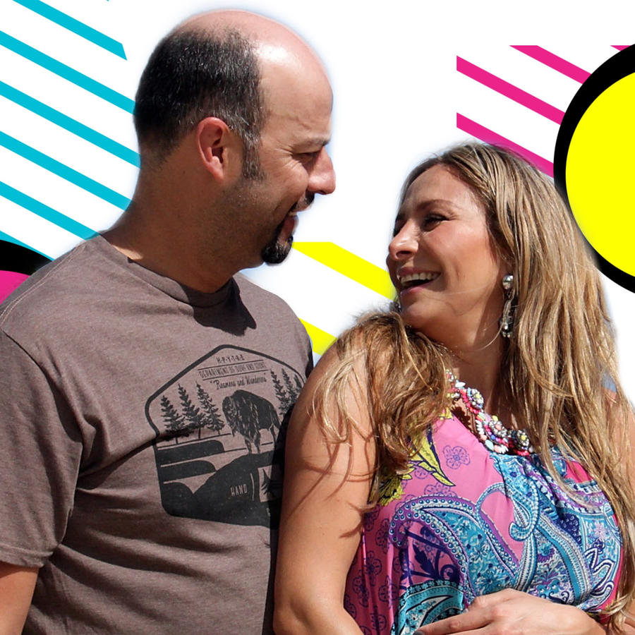 Esteban Loaiza y Cristina Eustace