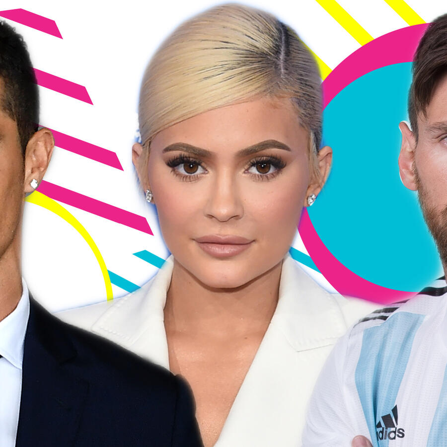 Cristiano Ronaldo, Kylie Jenner y Messi