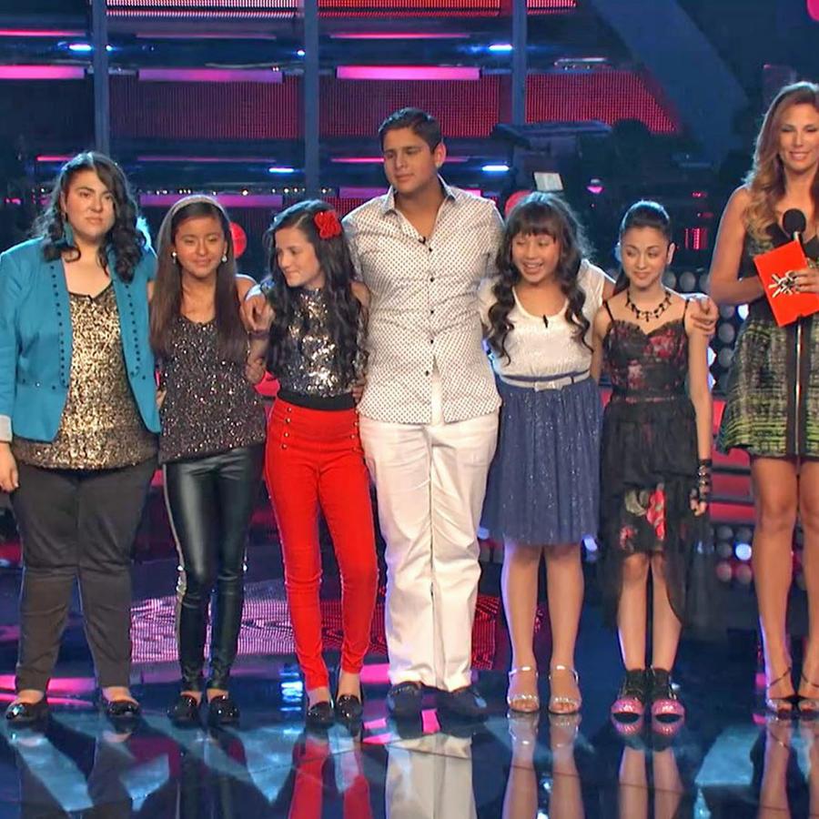 Team Rubio en los shows en vivo de La Voz Kids