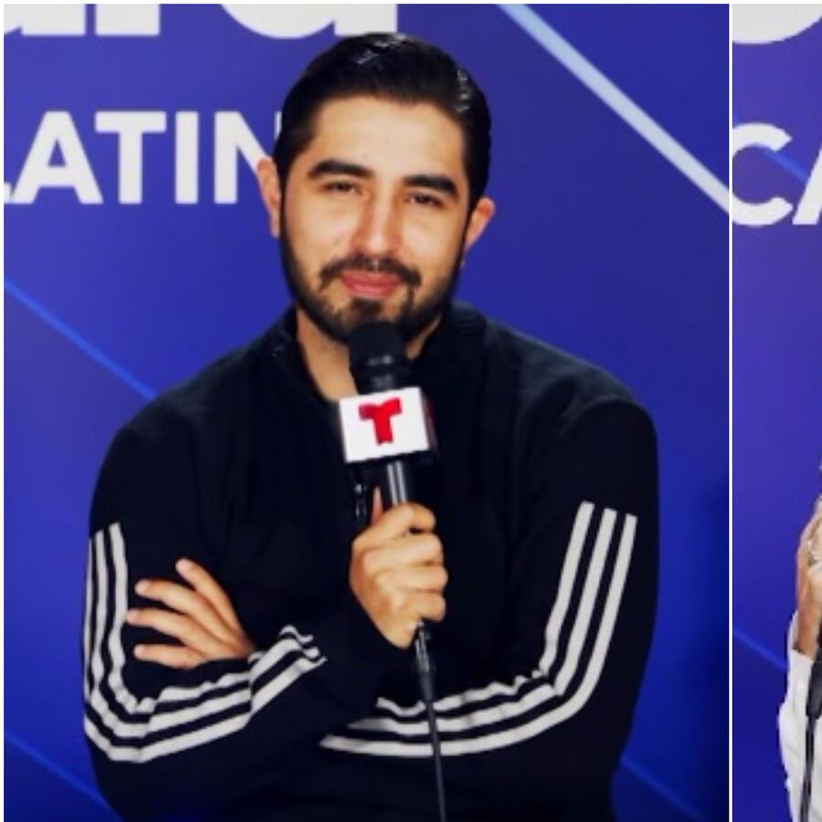 Joss Favela y Jhay Cortez en el backstage de los Premios Billboard de la Música Latina 2021