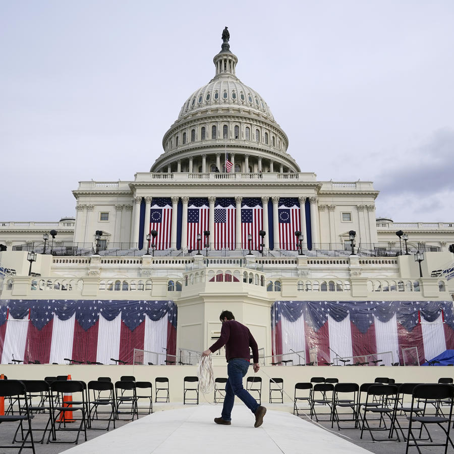 Preparativos para la toma de posesión de Joe Biden.