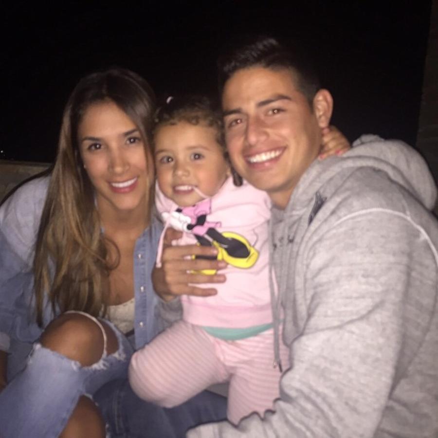James Rodríguez, Daniela Ospina y Salomé Rodríguez