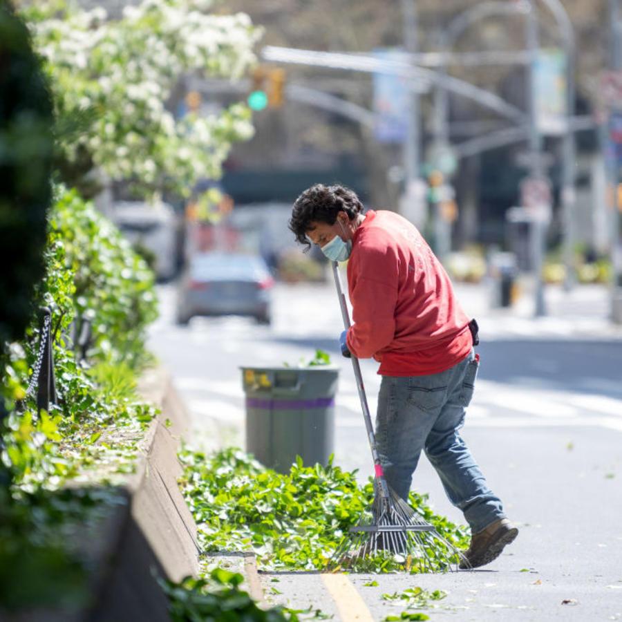 Jardinero en Nueva York.