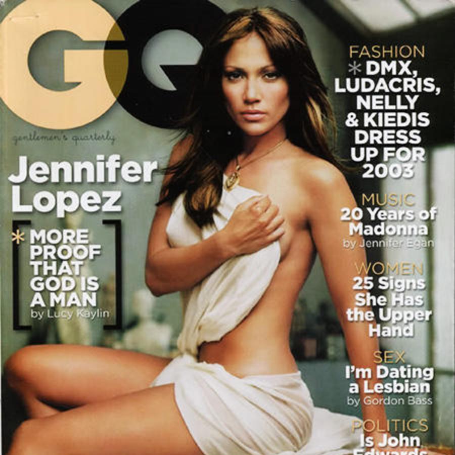 Jennifer Lopez en la portada de la revista GQ.