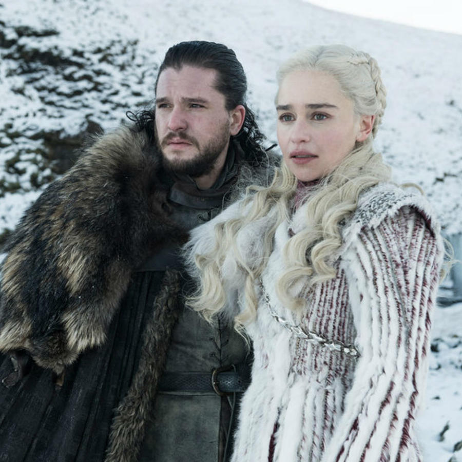 "Jon Snow y Daenerys Targaryen en ""Game of Thrones"""