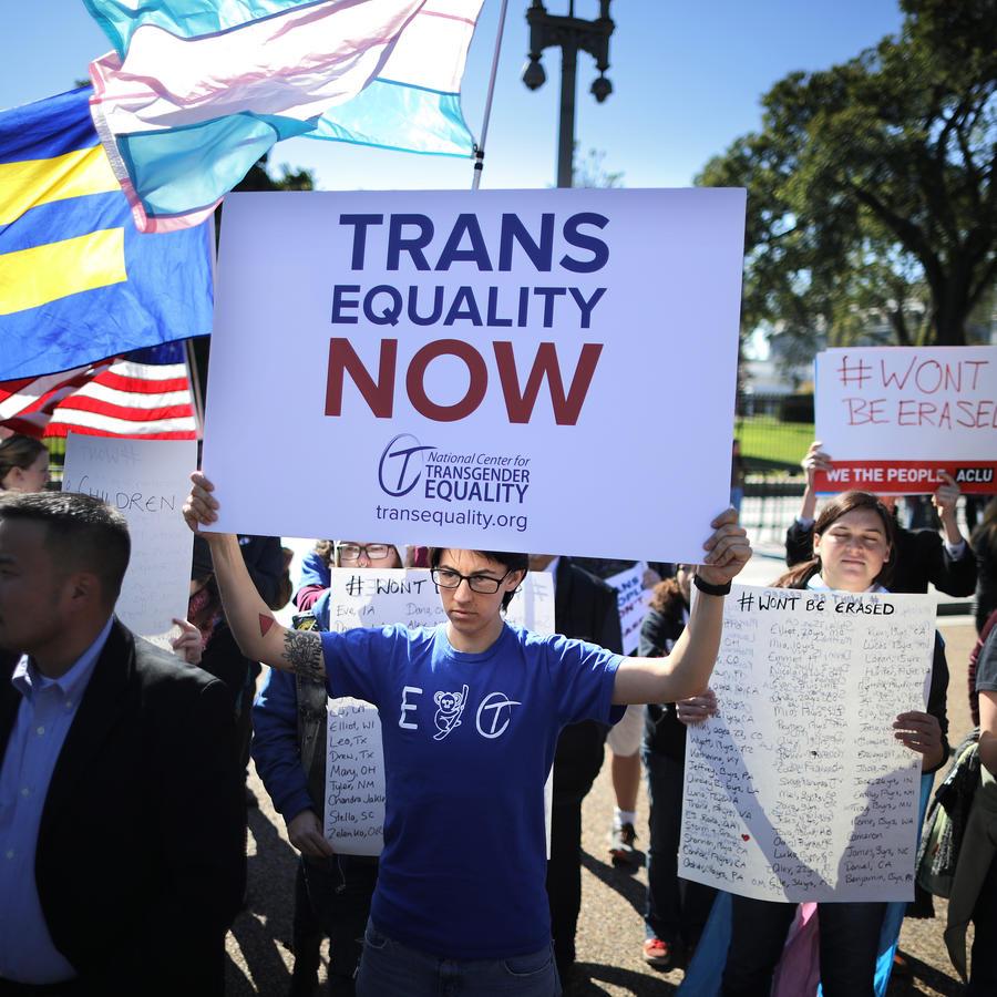 Activistas del Centro Nacional para la Igualdad Transgénero