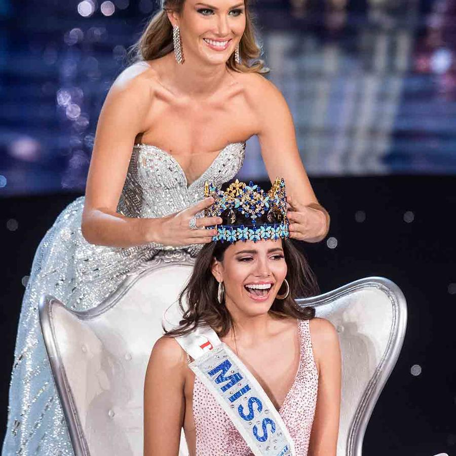 Mireia Lalaguna, Miss Mundo 2015 y Stephanie del Valle, Miss Mundo 2016
