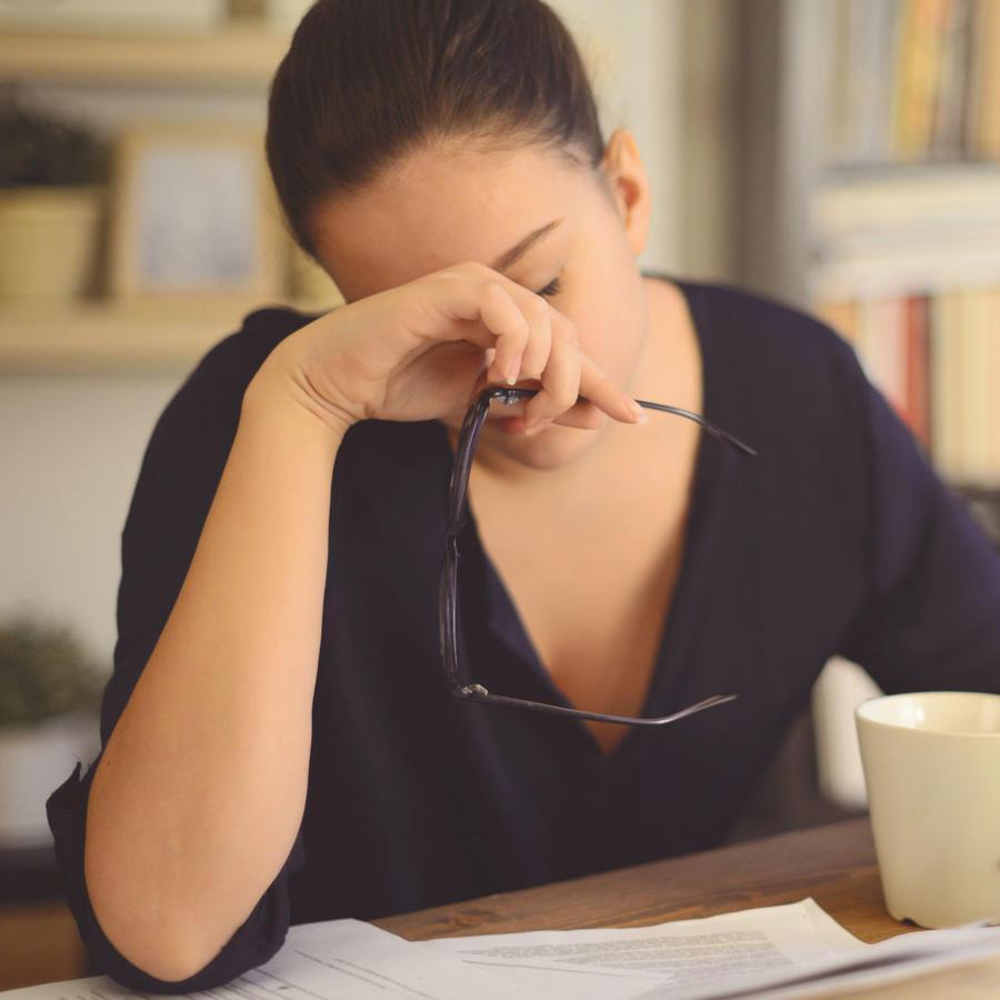 Mujer cansada