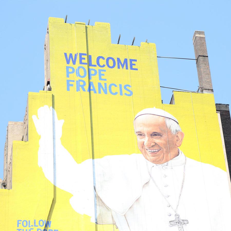 mural del papa