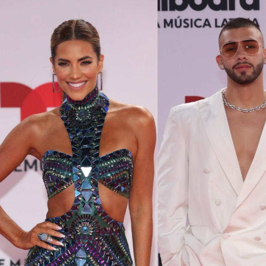 Gaby Espino, Manuel Turizo y Paulina Rubio en los Premios Billboard 2020