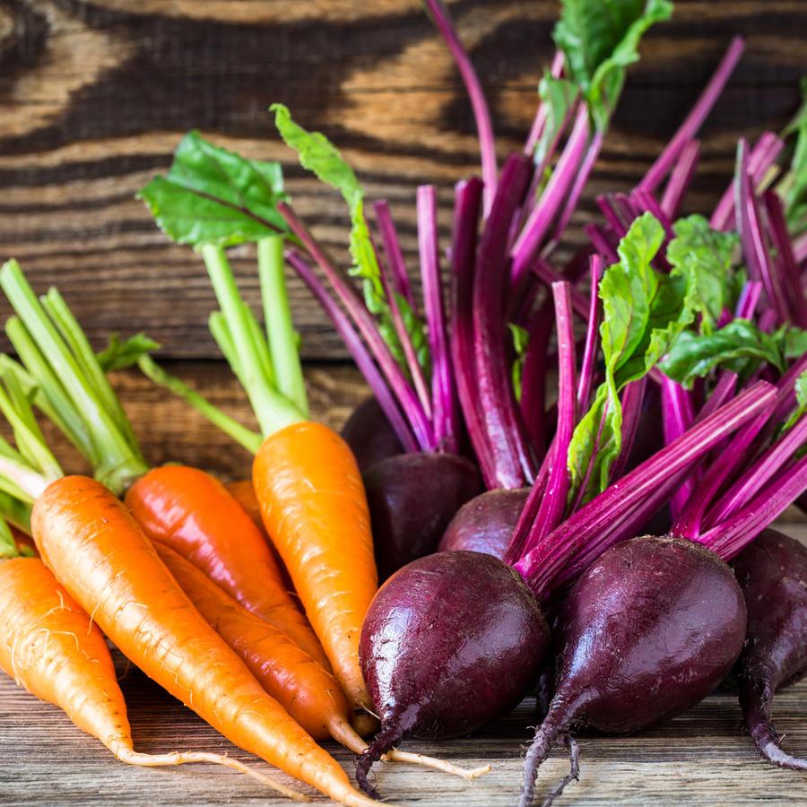 Remolachas y zanahorias