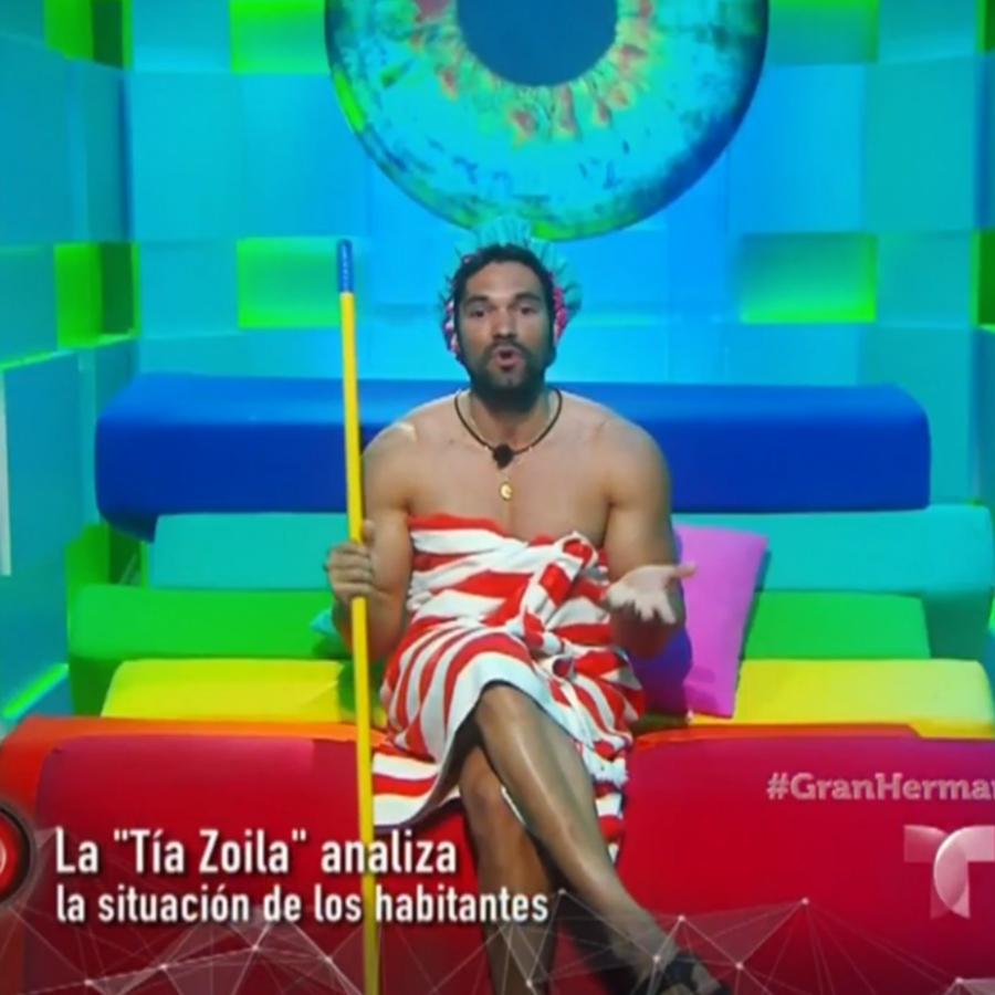 Rafael como su personaje de Tía Zoila en Gran Hermano