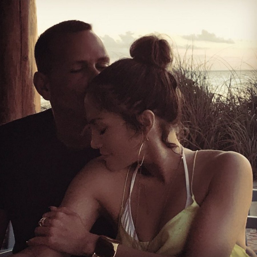 Jennifer Lopez con Alex Rodríguez.