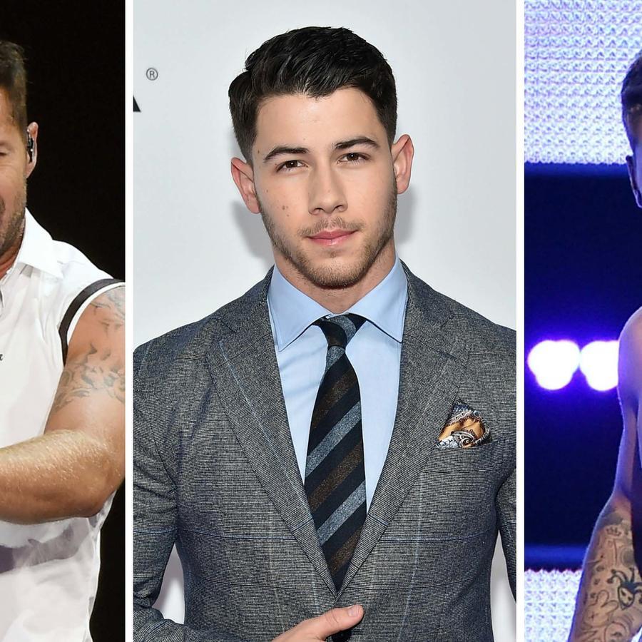 Ricky Martin, Nick Jonas y Justin Bieber