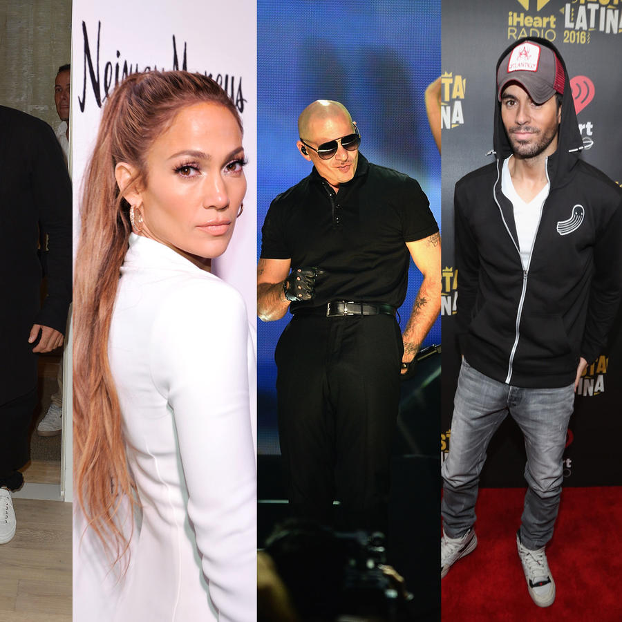 Shakira, Daddy Yankee, Ricky Martin, Pitbull, Enrique Iglesias