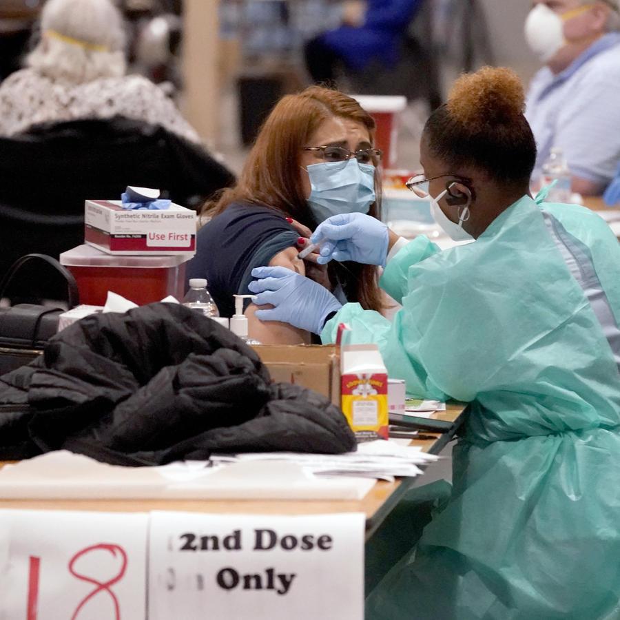 Vacunación en Dallas, Texas.