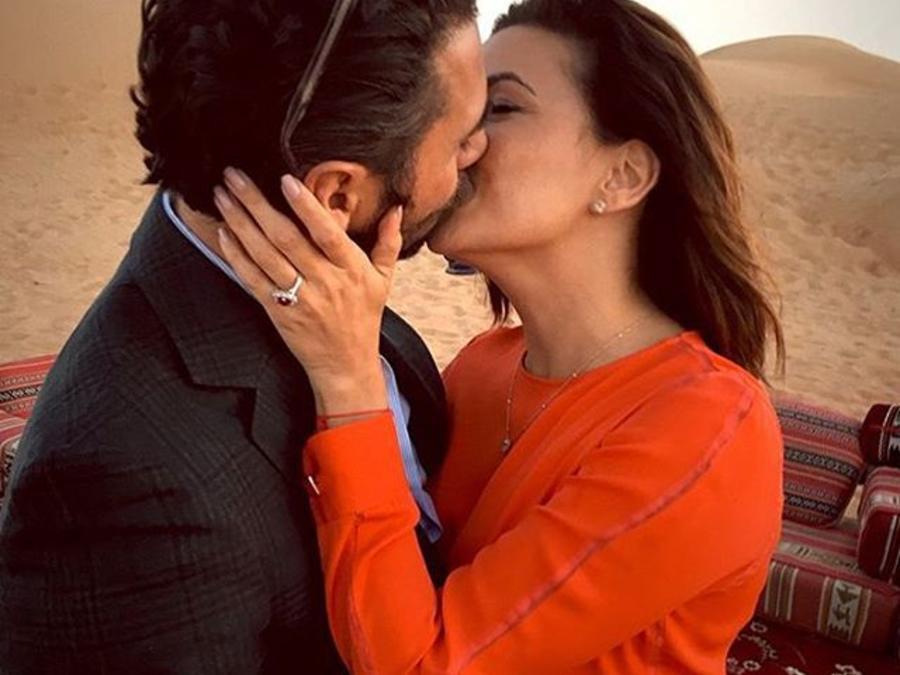 Eva Longoria y papa Bastón en Dubai