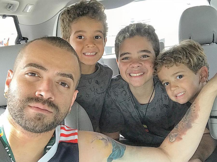 Nacho con los hijos