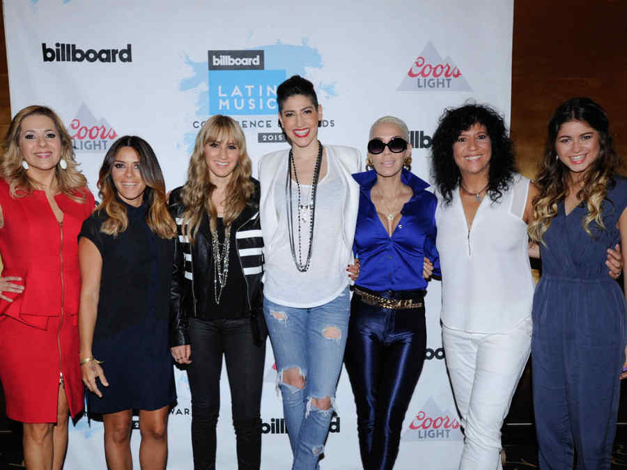 Ana Maria Canseco,  Kany Garcia,  Ha*Ash, Ivy Queen, Rosana,  Sofia Reyes, Ha*Ash en las Conferencias de Billboard de la Música Latina 2015