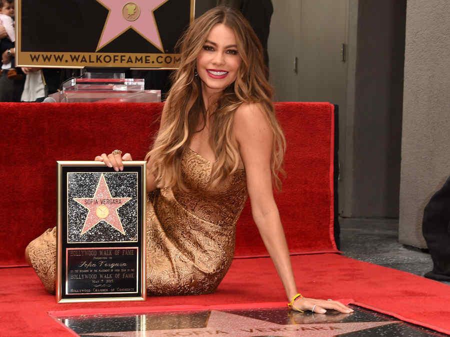 Sofía Vergara en el Paseo de la Fama de Hollywood 2015