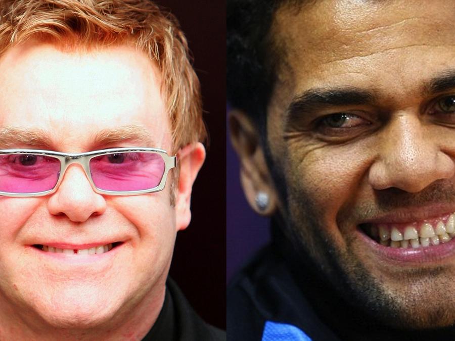 Elton John y Dani Alves