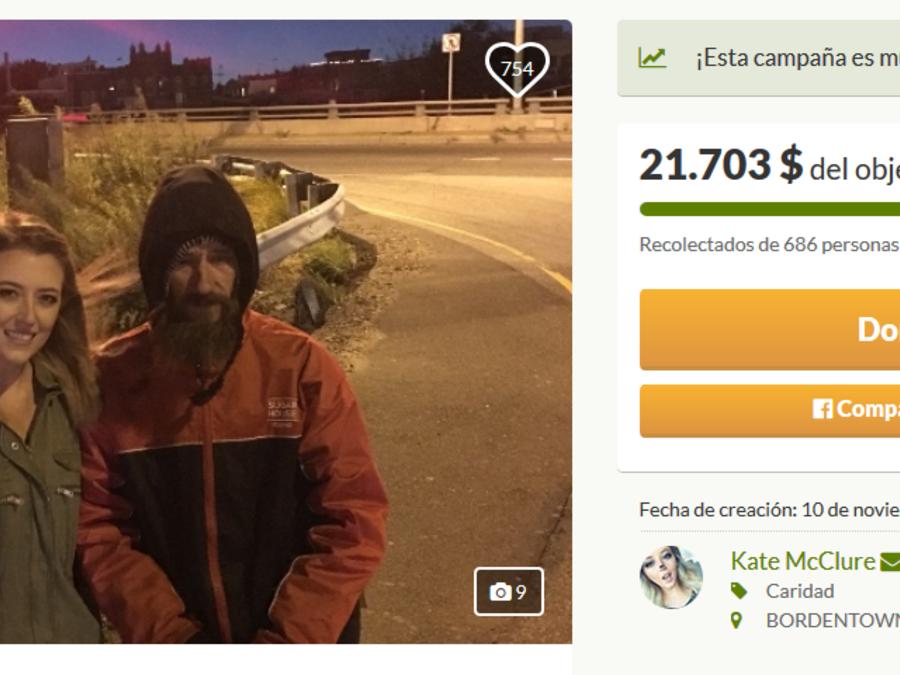 Campaña para ayudar a Johnny en GoFundMe.