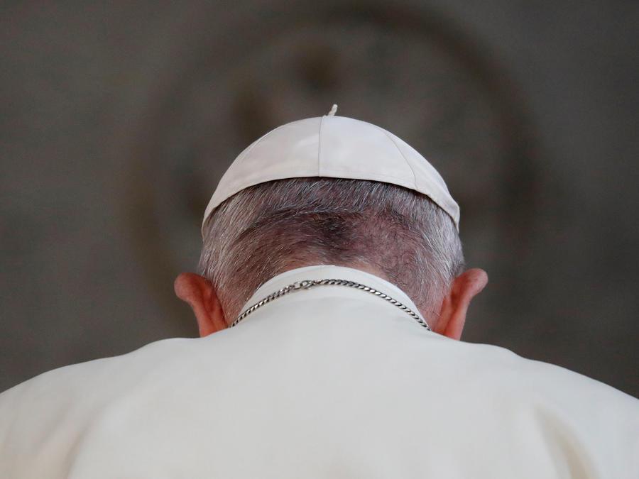 El papa Francisco en su visita a Irlanda hoy